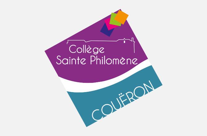 Création de logo à Couëron pour le collège Sainte Philomène