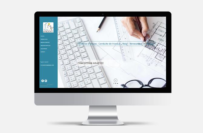 Création de site internet pour maître d'oeuvre à Nantes