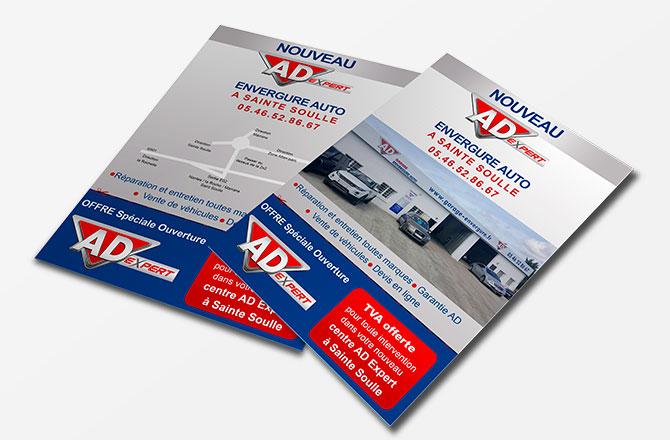 Création de flyer pour garage à Vallet