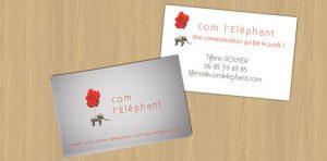 Carte de visite pour professionnel - Com L'Eléphant, agence de communication à Nantes