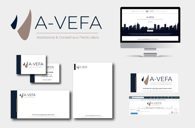 Graphiste nantes charte graphique a-vefa